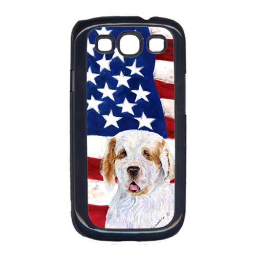 Carolines Treasures SS4027GALAXYS3 USA American Flag with Clumber Spaniel Cell Phone Cover GALAXY S111