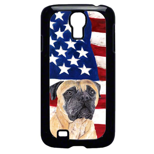 Carolines Treasures SC9031GALAXYS4 USA American Flag with Mastiff Cell Phone Cover GALAXY S4
