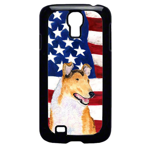 Carolines Treasures SS4226GALAXYS4 USA American Flag With Collie Smooth Galaxy S4 Cell Phone Cover