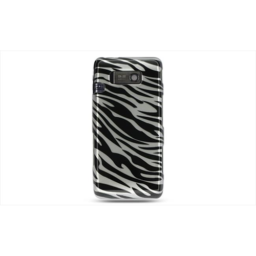DreamWireless CALGVS750SLZ LG Vs750 Fathom Crystal Case Silver Zebra