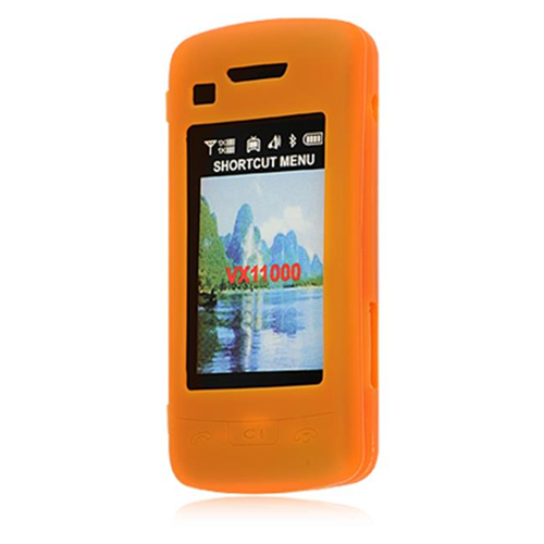 DreamWireless SCLG11000OR LG Voyager II Env Touch VX-11000 Skin Case - Orange