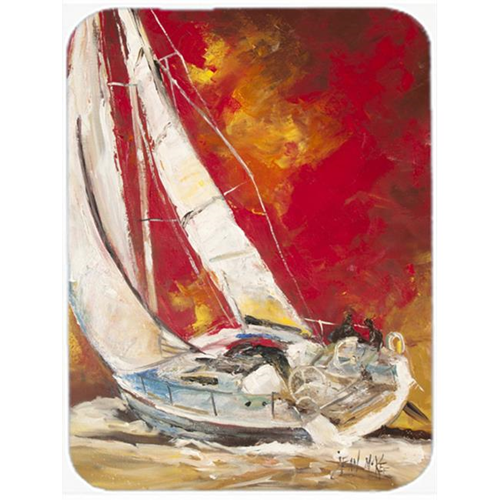 Carolines Treasures JMK1154MP Red Sailboat Mouse Pad Hot Pad & Trivet