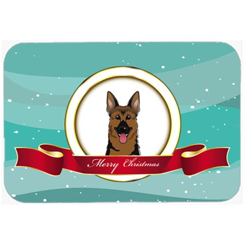 Carolines Treasures BB1521MP German Shepherd Merry Christmas Mouse Pad Hot Pad & Trivet