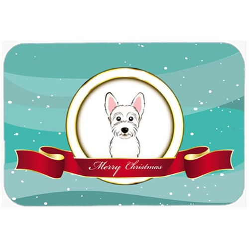 Carolines Treasures BB1536MP Westie Merry Christmas Mouse Pad Hot Pad & Trivet