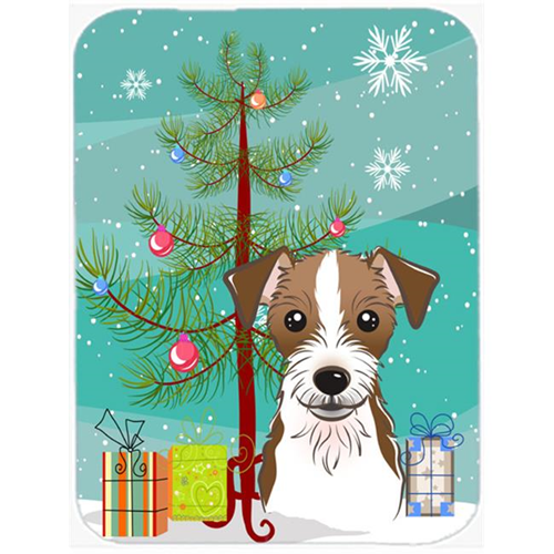 Carolines Treasures BB1574MP Christmas Tree And Jack Russell Terrier Mouse Pad Hot Pad & Trivet