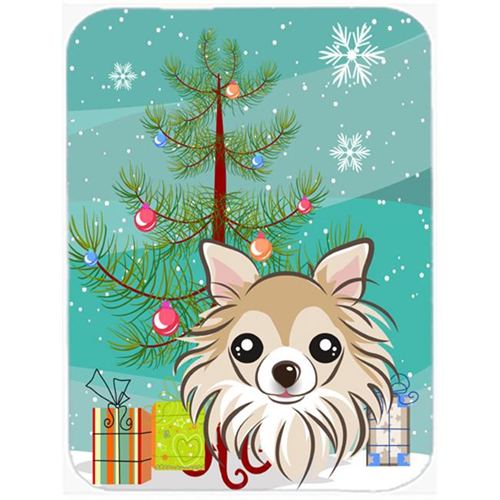 Carolines Treasures BB1623MP Christmas Tree And Chihuahua Mouse Pad Hot Pad & Trivet