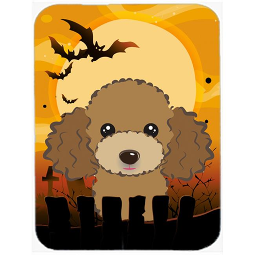 Carolines Treasures BB1814MP Halloween Chocolate Brown Poodle Mouse Pad Hot Pad & Trivet