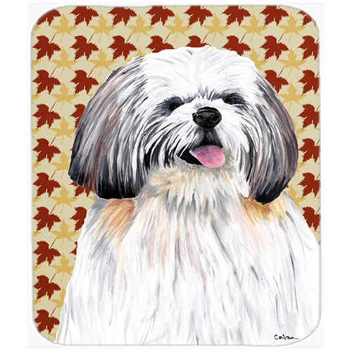Carolines Treasures SC9223MP 9.5 x 8 in. Shih Tzu Fall Leaves Portrait Mouse Pad Hot Pad or Trivet