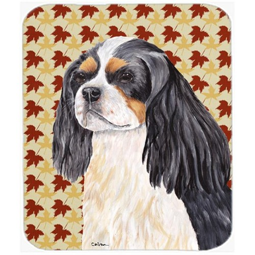 Carolines Treasures SC9231MP 9.5 x 8 in. Cavalier Spaniel Fall Leaves Portrait Mouse Pad Hot Pad or Trivet