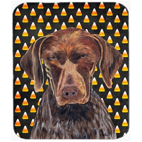 Carolines Treasures SC9189MP German Shorthaired Pointer Candy Corn Halloween Mouse Pad Hot Pad Or Trivet