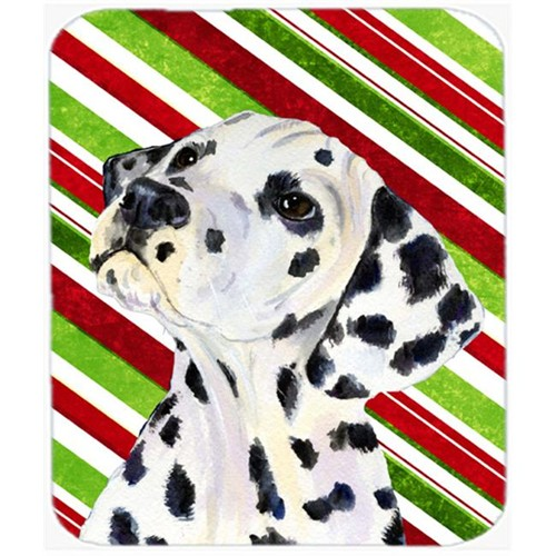 Carolines Treasures SS4561MP Dalmatian Candy Cane Holiday Christmas Mouse Pad Hot Pad Or Trivet