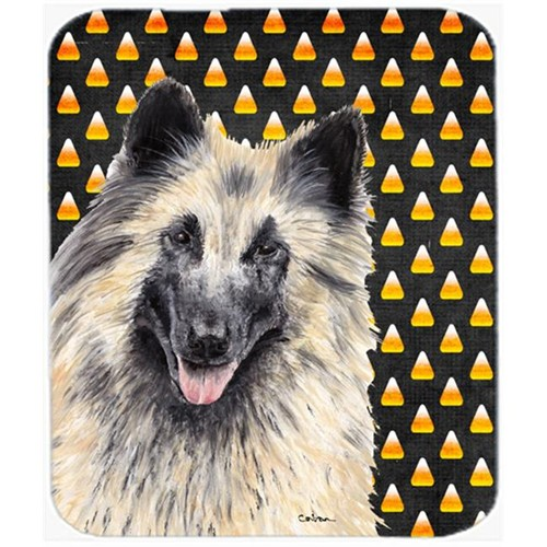 Carolines Treasures SC9193MP Belgian Tervuren Candy Corn Halloween Portrait Mouse Pad Hot Pad Or Trivet