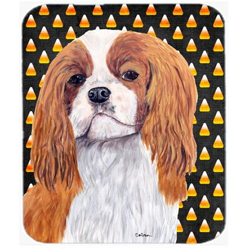 Carolines Treasures SC9194MP Cavalier Spaniel Blenheim Candy Corn Halloween Mouse Pad Hot Pad Or Trivet