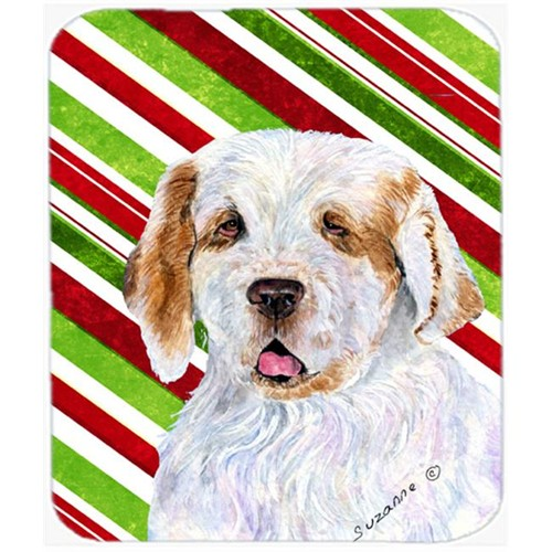 Carolines Treasures SS4569MP Clumber Spaniel Candy Cane Holiday Christmas Mouse Pad Hot Pad Or Trivet