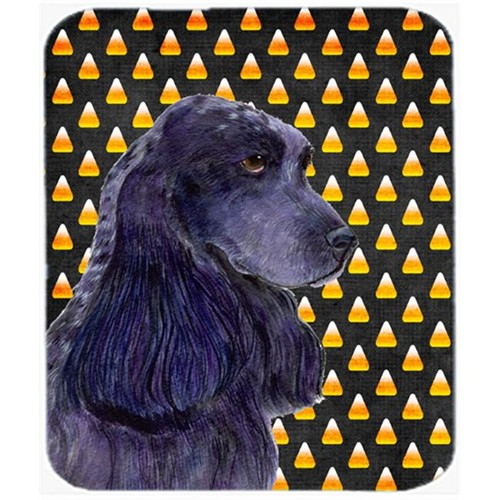 Carolines Treasures SS4264MP Cocker Spaniel Candy Corn Halloween Portrait Mouse Pad Hot Pad Or Trivet