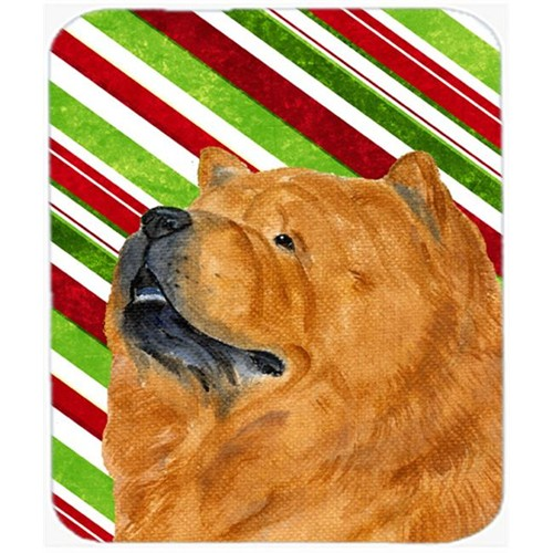 Carolines Treasures SS4571MP Chow Chow Candy Cane Holiday Christmas Mouse Pad Hot Pad Or Trivet