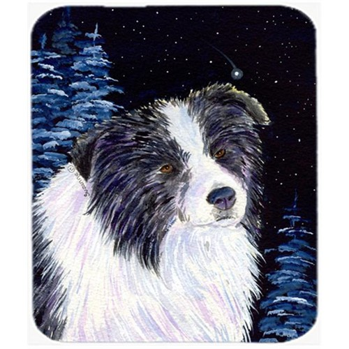Carolines Treasures SS8558MP Starry Night Border Collie Mouse Pad Hot Pad Or Trivet