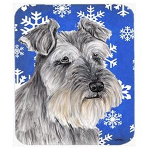 Carolines Treasures SC9393MP Schnauzer Winter Snowflakes Holiday Mouse Pad Hot Pad Or Trivet