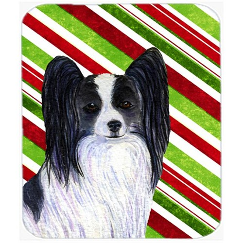 Carolines Treasures SS4574MP Papillon Candy Cane Holiday Christmas Mouse Pad Hot Pad Or Trivet