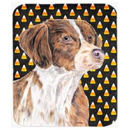 Carolines Treasures SC9187MP Brittany Candy Corn Halloween Portrait Mouse Pad Hot Pad Or Trivet