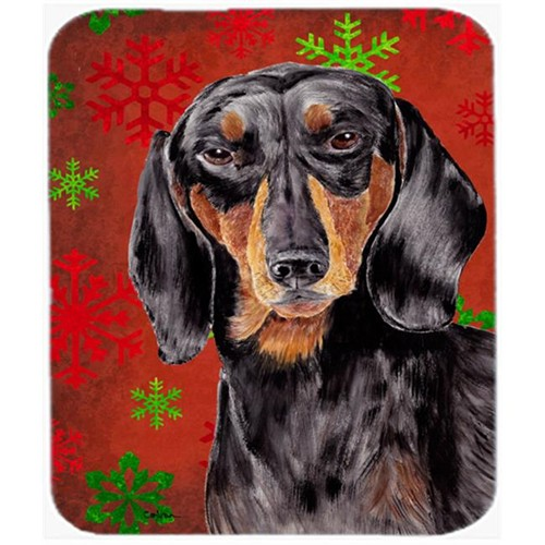 Carolines Treasures SC9403MP Dachshund Red And Green Snowflakes Holiday Christmas Mouse Pad Hot Pad Trivet