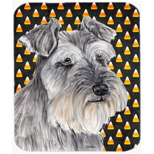 Carolines Treasures SC9188MP Schnauzer Candy Corn Halloween Portrait Mouse Pad Hot Pad or Trivet