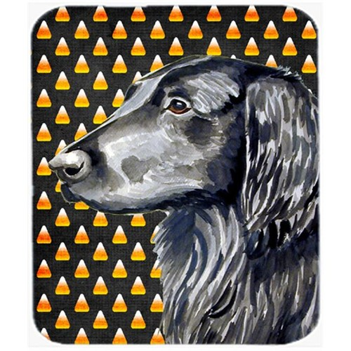 Carolines Treasures LH9062MP Flat Coated Retriever Candy Corn Halloween Mouse Pad Hot Pad or Trivet