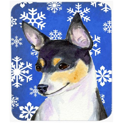 Carolines Treasures SS4656MP Chihuahua Winter Snowflakes Holiday Mouse Pad Hot Pad or Trivet