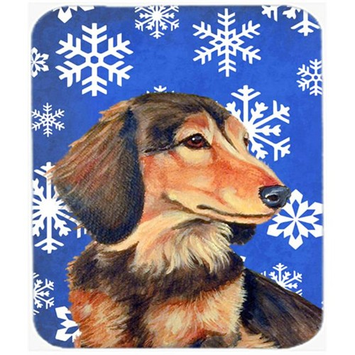 Carolines Treasures LH9301MP Dachshund Winter Snowflakes Holiday Mouse Pad Hot Pad Or Trivet - 7.75 x 9.25 In.