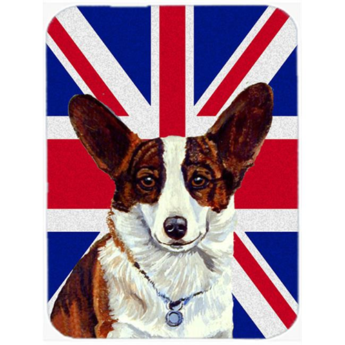 Carolines Treasures LH9485MP 7.75 x 9.25 In. Corgi With English Union Jack British Flag Mouse Pad Hot Pad Or Trivet