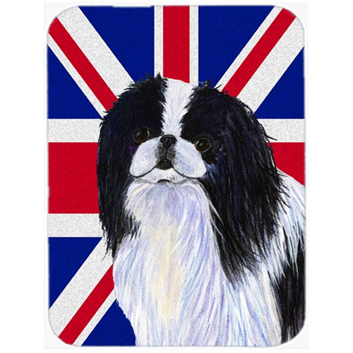 Carolines Treasures SS4909MP 7.75 x 9.25 In. Japanese Chin With English Union Jack British Flag Mouse Pad Hot Pad Or Trivet
