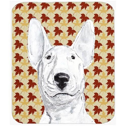 Carolines Treasures SC9548MP 7.75 x 9.25 In. Bull Terrier Fall Leaves Mouse Pad Hot Pad or Trivet