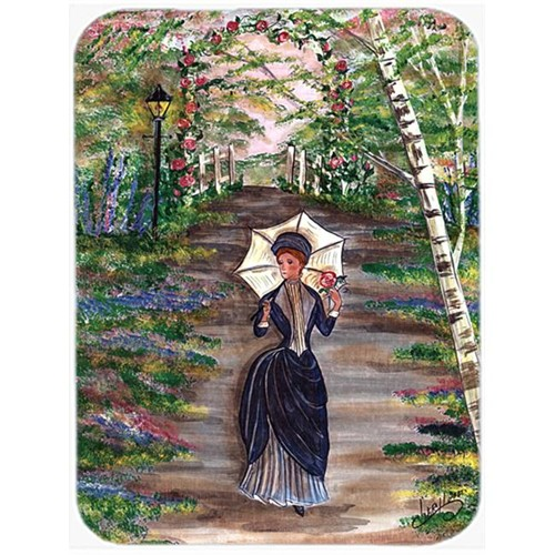 Carolines Treasures CN5056MP 7.75 x 9.25 In. Fancy Lady on a Stroll Mouse Pad Hot Pad or Trivet