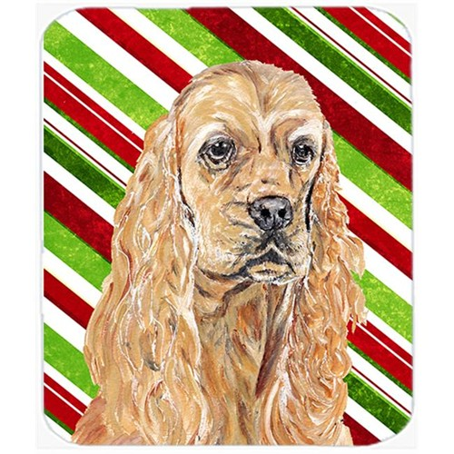 Carolines Treasures SC9612MP Cocker Spaniel Candy Cane Christmas Mouse Pad Hot Pad Or Trivet
