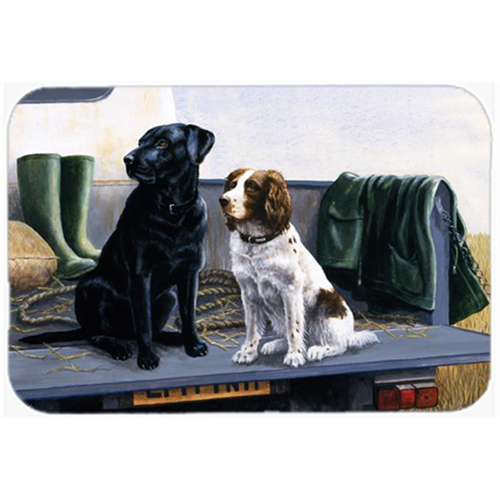 Carolines Treasures BDBA0341MP On the Tailgate Labrador & Springer Spaniel Mouse Pad Hot Pad or Trivet