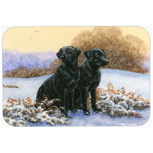 Carolines Treasures BDBA0450MP Black Labradors in the Snow Mouse Pad Hot Pad or Trivet
