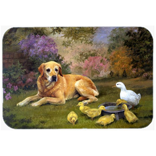 Carolines Treasures HEH0096MP Yellow Labrador & Chicks Mouse Pad Hot Pad or Trivet
