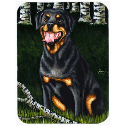 Carolines Treasures AMB1388MP Backwoods Companion Rottweiler Mouse Pad Hot Pad or Trivet