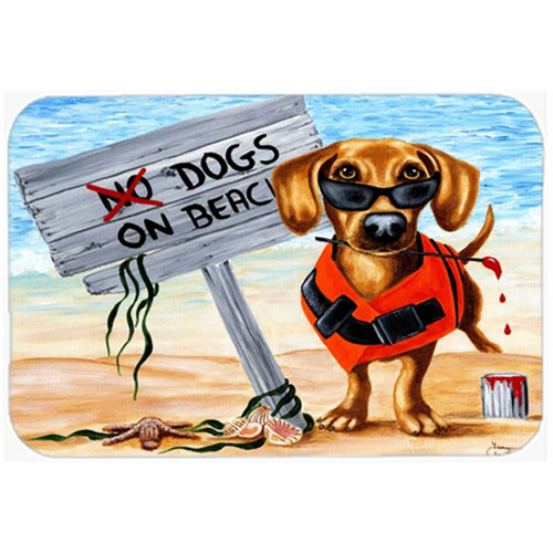 Carolines Treasures AMB1341MP The Dog Beach Dachshund Mouse Pad Hot Pad or Trivet