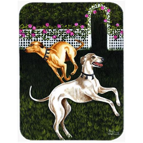 Carolines Treasures AMB1354MP Rose Garden Frolick Greyhounds Mouse Pad Hot Pad or Trivet