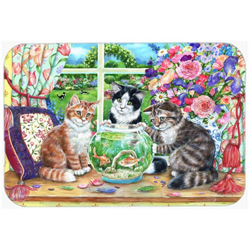 Carolines Treasures CDCO0325MP Cats Just Looking in the Fish Bowl Mouse Pad Hot Pad or Trivet