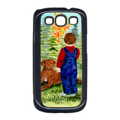 Carolines Treasures SS8547GALAXYSIII Little Boy With His Chesapeake Bay Retriever Cell Phone Cover For Galaxy S111