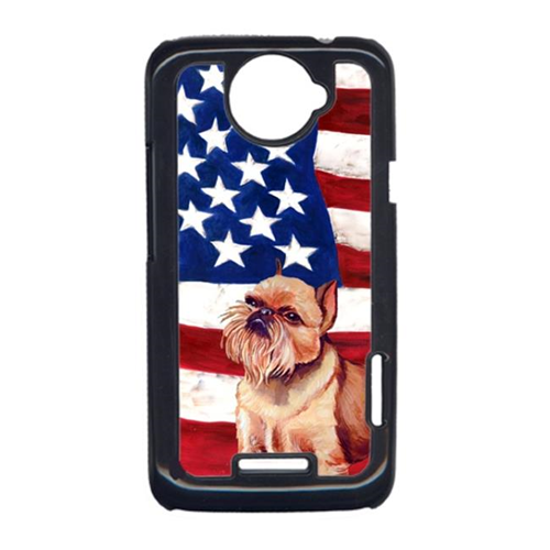 Carolines Treasures LH9023HTCONE USA American Flag With Brussels Griffon HTC One X Cell Phone Cover
