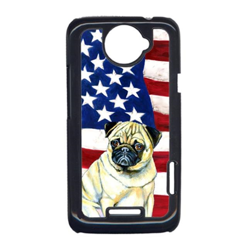Carolines Treasures LH9002HTCONE USA American Flag With Pug HTC One X Cell Phone Cover