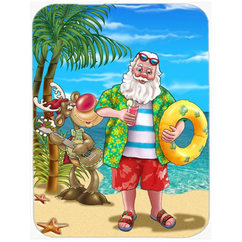 Carolines Treasures APH5150MP Beach Christmas Santa Claus Swimming Mouse Pad Hot Pad or Trivet