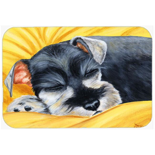 Carolines Treasures AMB1161MP Snoozing Schnauzer Mouse Pad Hot Pad or Trivet