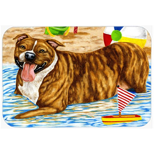 Carolines Treasures AMB1338MP Beach Bum Staffie Mouse Pad Hot Pad or Trivet
