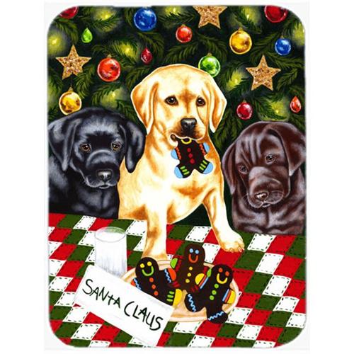 Carolines Treasures AMB1314MP Santas Helpers in Christmas Stockings Labrador Mouse Pad Hot Pad or Trivet