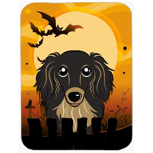 Carolines Treasures BB1771MP Halloween Longhair Black And Tan Dachshund Mouse Pad Hot Pad & Trivet
