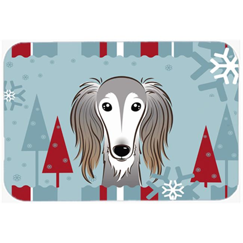 Carolines Treasures BB1725MP Winter Holiday Saluki Mouse Pad Hot Pad & Trivet